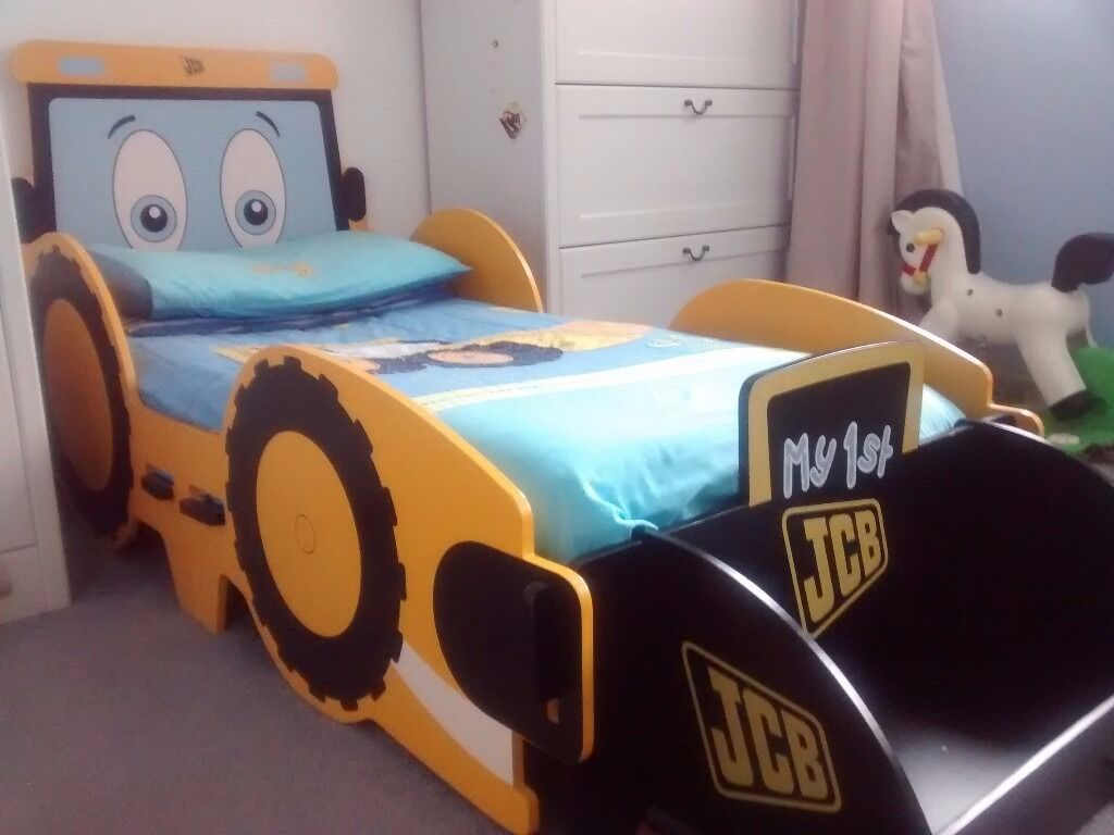 Kidsaw Joey JCB Junior Toddler Bed With Toy Box Front Scoop