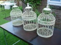 3 DECORATIVE BIRD CAGES FOR WEDDINGS .