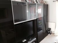 Ikea living room units and TV cabinet