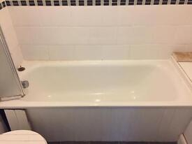 White metal bath - great condition