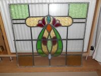 ORIGINAL ART NOUVEAU STAINED GLASS