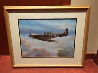 Framed Spitfire Picture