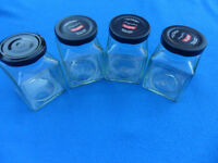 4 x small jars with lids. Clean, labels removed. Christmas Crafts, Wedding Candles - Pokesdown BH5