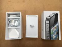 iPhone 4s box and accessories (never used). NB: no phone.
