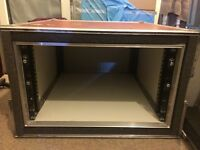 6U Rack Flight Case. Used. Extremely Durable