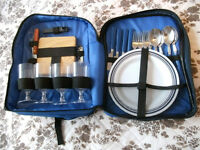 Ruck sack style picnic set. for 4 people.