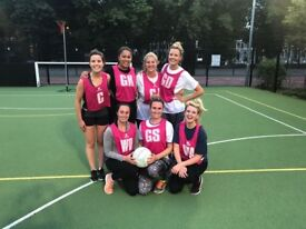 FUN NETBALL TEAM LOOKING FOR ATTACK PLAYERS / SHOOTERS