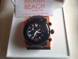 UNISEX MIAMI BEACH WATCH BRAND NEW IN THE BOX.