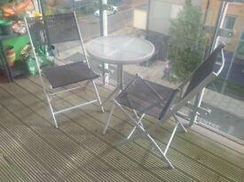 Kara 2 Seater Garden Bistro Set - Black - Retail £80 - SALE FOR £25