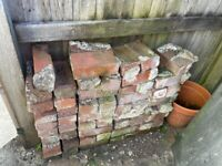 Reclaimed Red Bricks. Imperial size - 68 in total