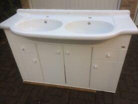 Roca bathroom vanity unit with double basin