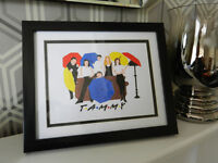 Personalised Friends art in frame with mount.