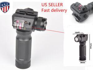 Vertical Foregrip with Combo Light Strobe Laser flashlight adjustable 20mm rail