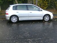 Honda, CIVIC, Hatchback, 2005, Manual, 1590 (cc), 5 doors low miles for year reluctant sale