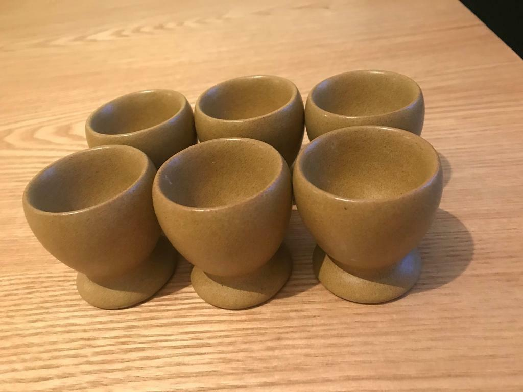 6 Denby ode pottery 1967 - 1977 egg cups