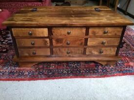 Solid beech coffee table/ chest