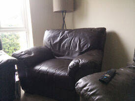 £50 authentic leather sofa. Have tjhe best seat in the house