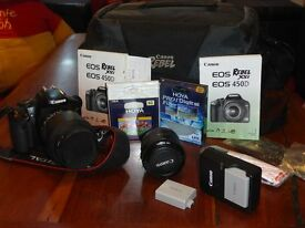 Canon Rebel Xsi or 450D with accessories