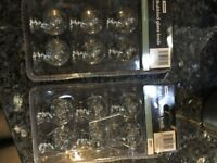 Bubbled glass furniture knobs x 12 - still available in Homebase if more required
