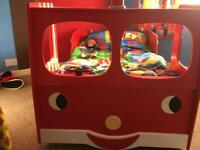 Child's Fire Engine Bed