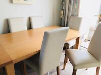 Beech Dining Table And Chairs With Matching Stereo Unit