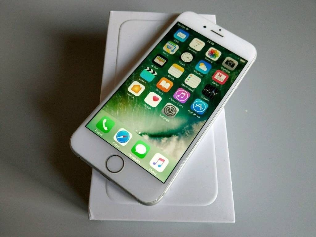 Apple Iphone 6 64gb Silver White Boxed Vodaphone Sim Locked