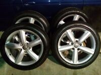 !! CLEARANCE !! AUDI Q7 20'' Genuine alloy wheel and tyres 5x130