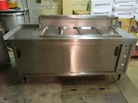 Bain Marie 4 compartment and warming oven heated cupboard bain-marie commercial kitchen restaurant