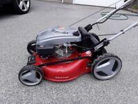 "Einhell Petrol lawn mower 51"" cut with electric start"