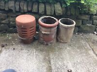 Chimney Pots x 3
