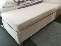 TWO Ikea Sultan Single Beds with Mattress, Mattress Protector and Mattress Topper