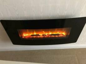 Electric fire with LED lighting