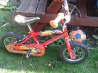 Boys lightening mcqueen bike