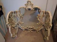 Antique victorian cast iron mirror