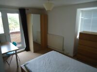 A double bedroom with balcony in great house share in Oldbrook. Fast WIFI, SKY & BT Sport TV.