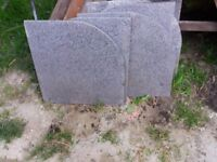 Parasol Freestanding Granite Base Slabs, Pack of 6 RRp £120
