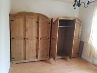 2 solid wood wardrobes,