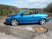 Peugeot 307 cabriolet sport... mint condition.. extremely low mileage