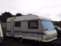hobby caravan with fixed bed