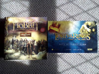 The Hobbit board game and The Lord of the Rings Deck building game and Risk