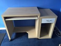 IKEA Desk and Drawer Unit