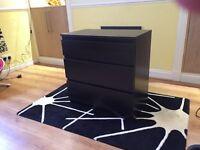 Ikea 3 Drawer Black Ash