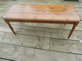 Beautiful little pine Coffee table with ornate detail