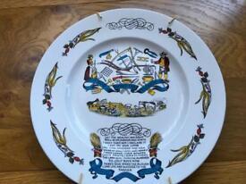 Farming commemorative plate