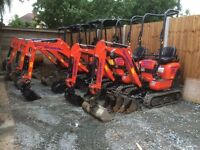 Reliable mini and micro digger hire / rent in Essex, dumper, groundwork, digger driver, grab lorry