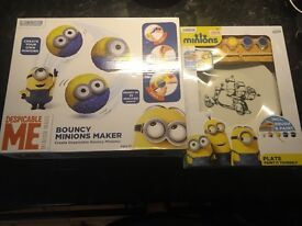 Paint your own Minion plate and make your own Minion bouncy ball both New and unopened