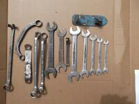 Vintage Chrom hazet450 vanadium open end spanner wrench set $85