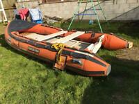 For sale 14ft RIB AND LAUNCHING TROLLEY