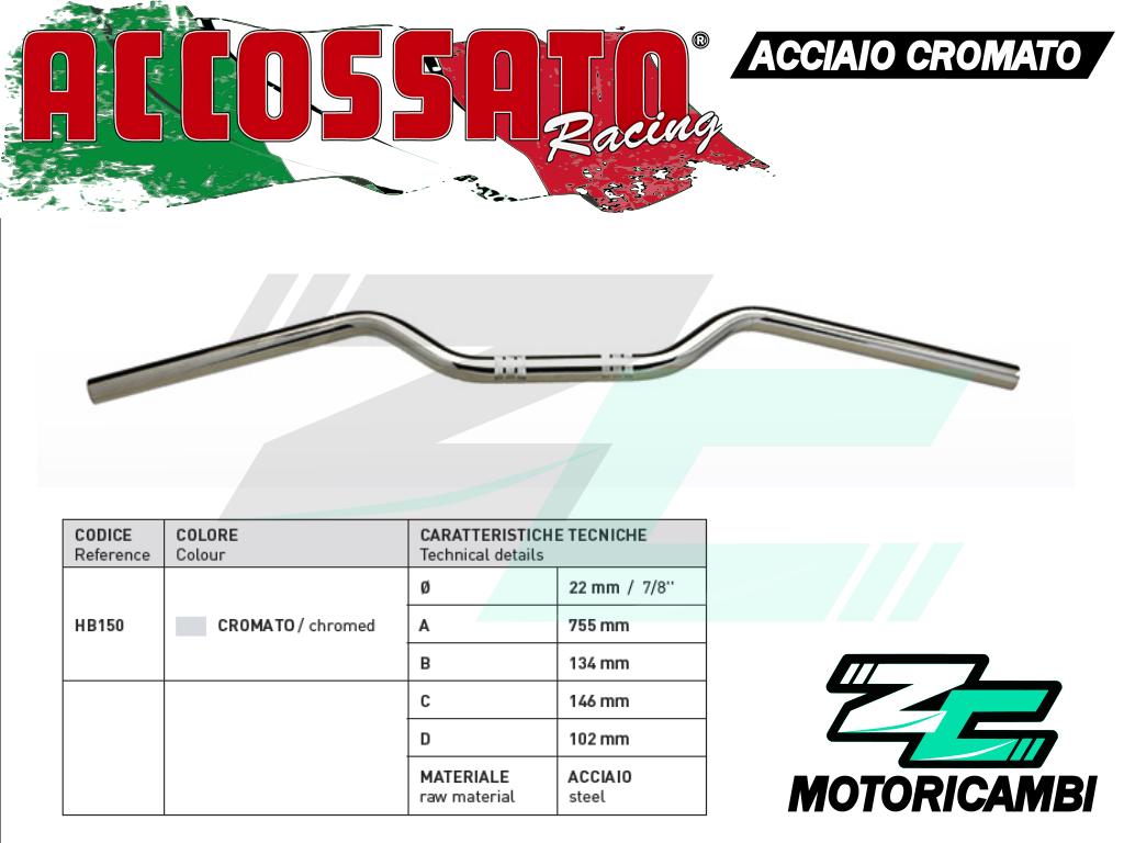 Manubrio Honda Xl 650 V Transalp (2001-2003) 22mm Acciaio Cromato Accossato - honda - ebay.it