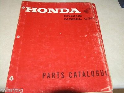Honda Generator G30 Parts Break Down  Catalog